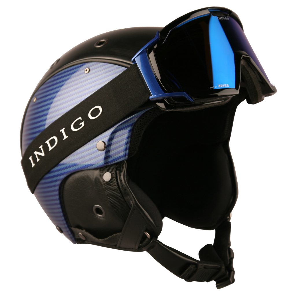 INDIGO_HELMET_CARBON_BLUE_WITH_GOGGLES