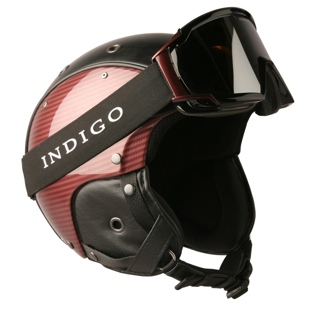 INDIGO_HELMET_CARBON_ROYAL_RED_WITH_GOGGLES