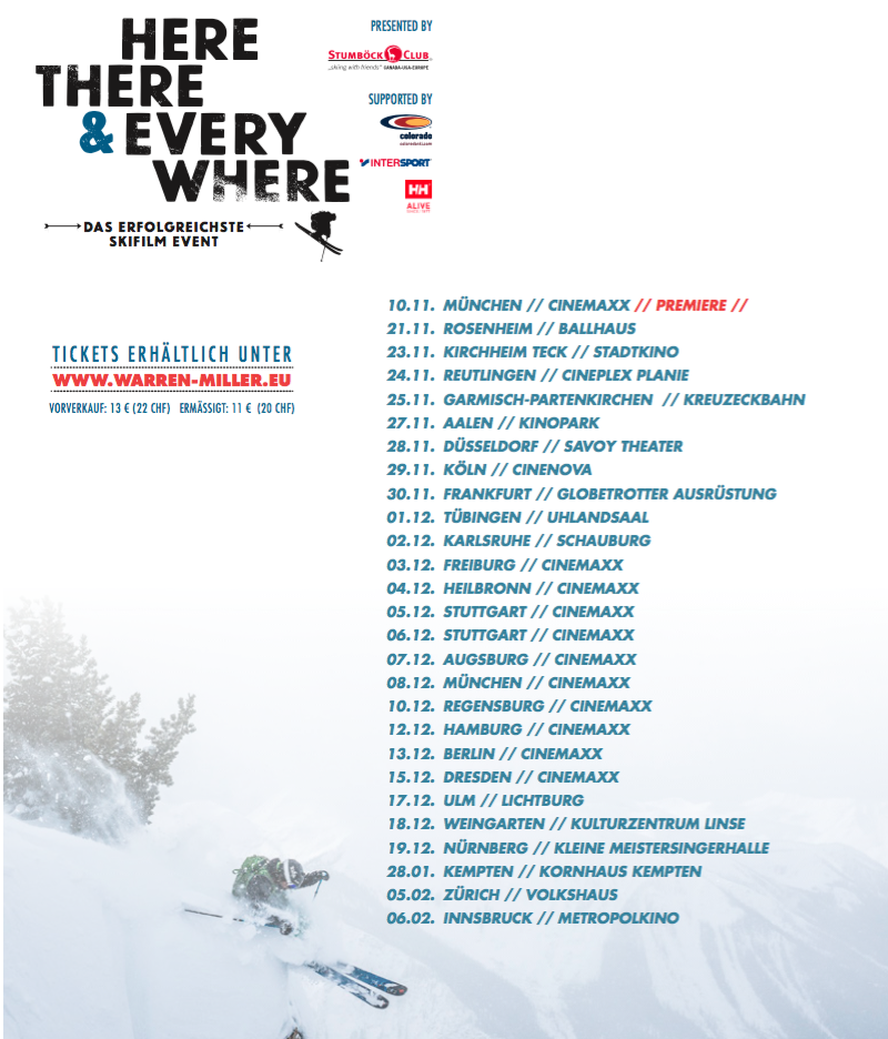 Warren Miller Tour